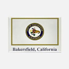 Bakersfield CA Flag Rectangle Magnet
