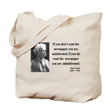Mark Twain 40 Tote Bag