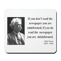 Mark Twain 40 Mousepad