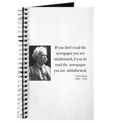 Mark Twain 40 Journal