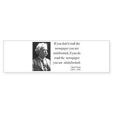 Mark Twain 40 Bumper Bumper Sticker