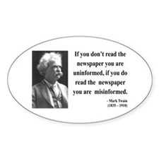 Mark Twain 40 Oval Decal