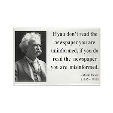 Mark Twain 40 Rectangle Magnet