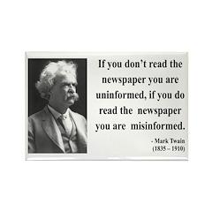 Mark Twain 40 Rectangle Magnet (100 pack)