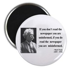 Mark Twain 40 Magnet