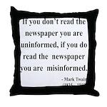 Mark Twain 40 Throw Pillow