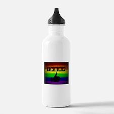 Trump gay rainbow art Water Bottle