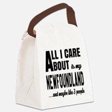 All I care about is my Newfoundla Canvas Lunch Bag