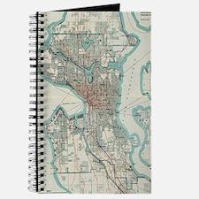 Cute Antique map Journal