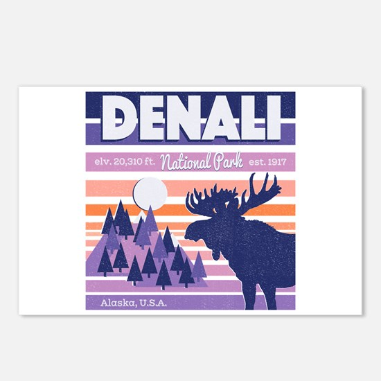 Denali National Park Suns Postcards (Package of 8)