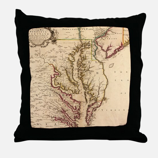 Cute Chesapeake bay Throw Pillow