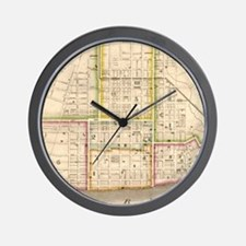 Cool Antique map Wall Clock