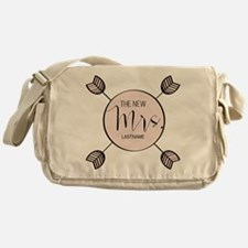 The New Mrs Personalized Bride Messenger Bag