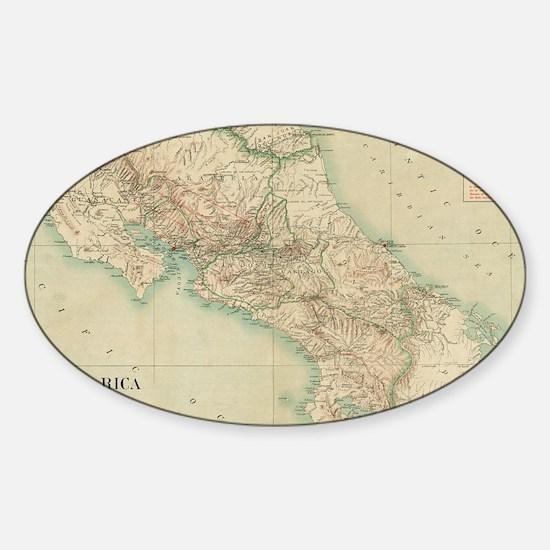 Cute Costa rica Sticker (Oval)