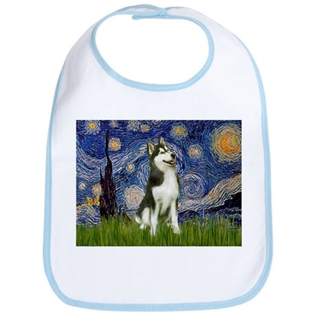 Starry Night & Husky Bib