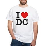 I love dc Mens Classic White T-Shirts