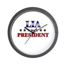 LIA for president Wall Clock