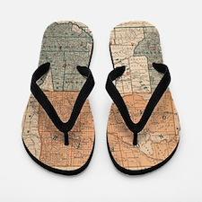 Funny Vintage north dakota Flip Flops
