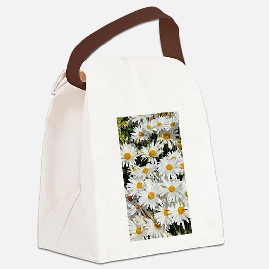 Cute Daisies Canvas Lunch Bag