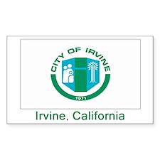 Irvine CA Flag Rectangle Decal