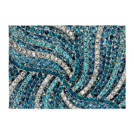 bohemian crystal teal turquoise 5 39 x7 39 area rug by admin cp62325139. Black Bedroom Furniture Sets. Home Design Ideas