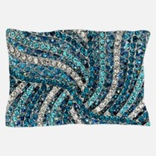 bohemian crystal teal turquoise Pillow Case