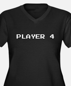PLAYER 4 Women's Plus Size V-Neck Dark T-Shirt