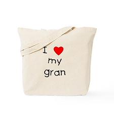 I love my gran Tote Bag