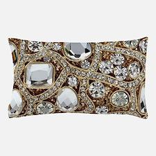 bohemian girly bling rhinestone Pillow Case