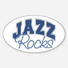 Jazz Rocks Oval Decal
