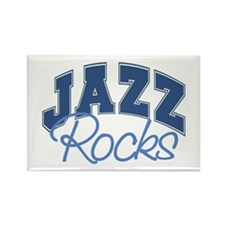 Jazz Rocks Rectangle Magnet