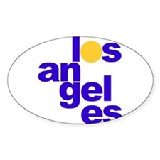 los angeles Oval Decal