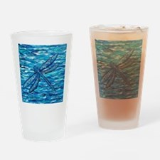 Cute Dragonfly art Drinking Glass