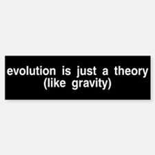 Evolution is a theory Bumper Bumper Bumper Sticker