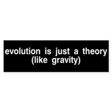 Evolution is a theory Bumper Car Sticker