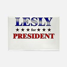 LESLY for president Rectangle Magnet