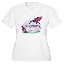 Women's Friends Faery Plus Size V-Neck T-Shirt