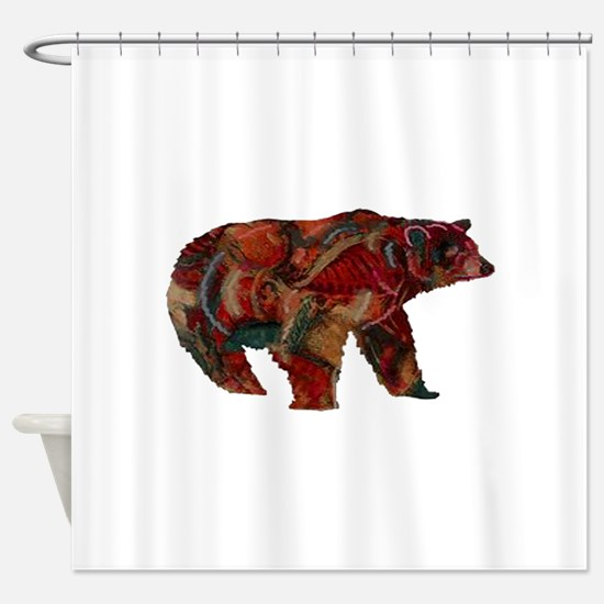 Bear Shower Curtains Bear Fabric Shower Curtain Liner