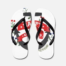 Cute 4th of july birthday Flip Flops