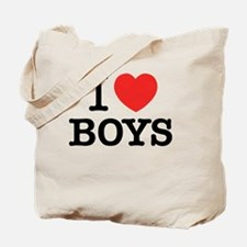 Unique I love boys Tote Bag