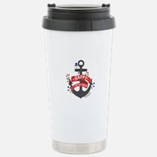 Independence Day Anchor Travel Mug