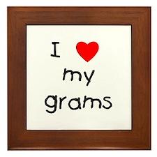 I love my grams Framed Tile