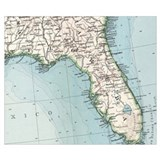 Florida map Wrapped Canvas Art