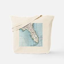 Cute Map of florida Tote Bag