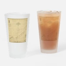 Map of florida Drinking Glass