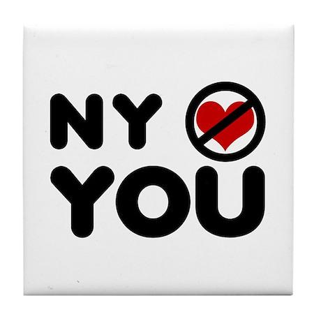 NY No Love Tile Coaster