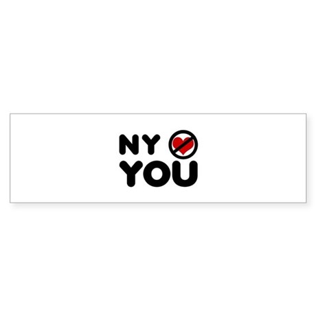 NY No Love Bumper Sticker