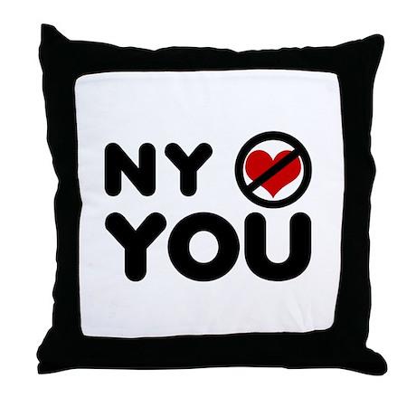 NY No Love Throw Pillow