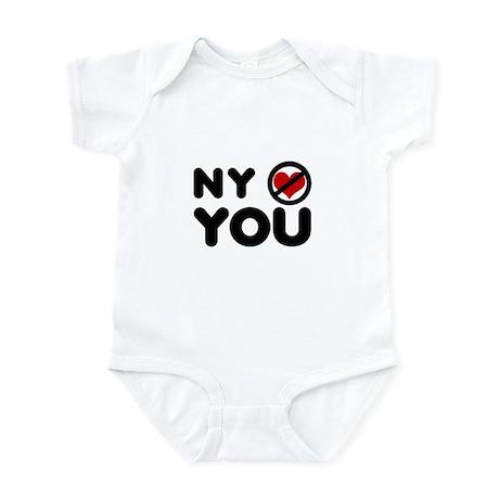 NY No Love Infant Bodysuit