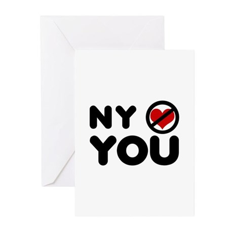 NY No Love Greeting Cards (Pk of 10)